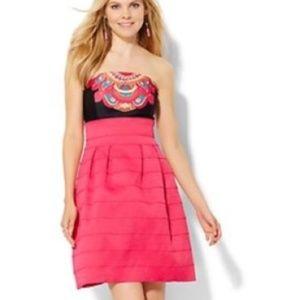 NWT New York & Company Pink Strapless Dress